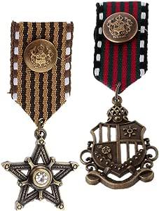 MagiDeal 2 Pedazos de Pin Broche de Medalla de Aleción Accesorio de Decoracion de Traje