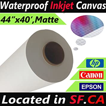 "1 Roll 44/"" x 40/' Professional Inkjet Canvas Matte for HP Inkjet"