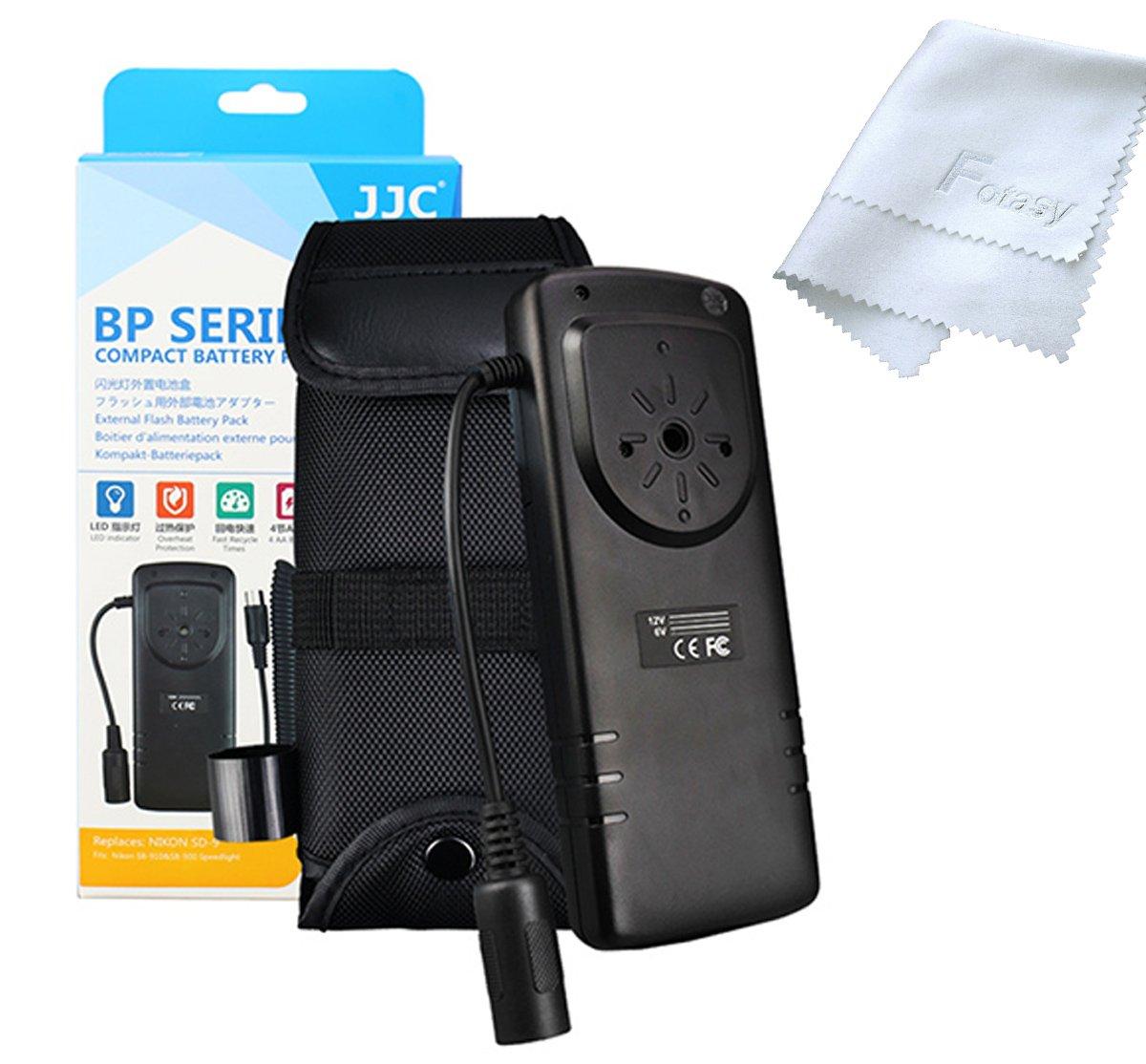 JJC BP-NK1 Pro External Flash Battery Pack Replaces NIKON SD-9, for Nikon Flash SB-910 / SB-900 / SB-5000