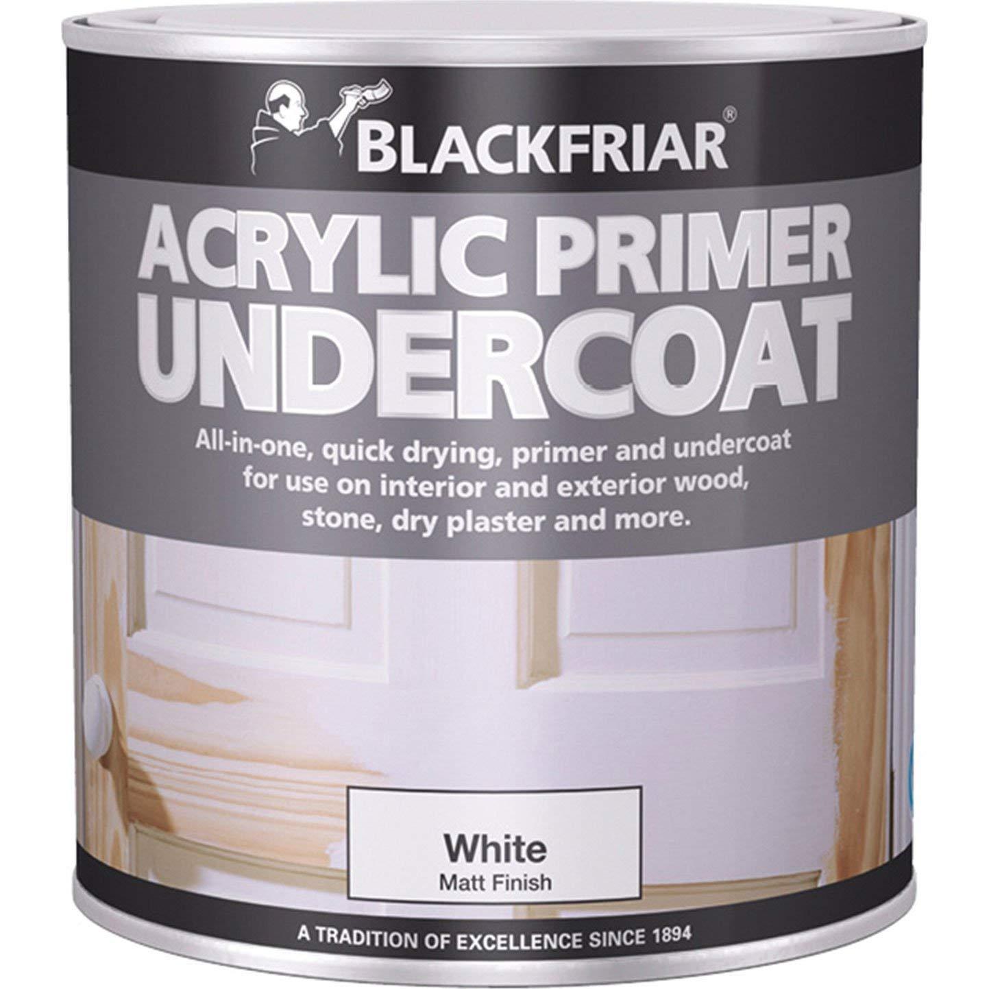 Blackfriar BKFGAP250 Quick Drying Acrylic Primer Undercoat, 250 ml, Grey Toolbank