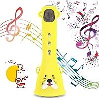 Bearbro Wireless Karaoke Microphone for Kids, Handheld Portable Karaoke Player Speaker Machine for Kids Home KTV Outdoor Birthday Party Top Birthday Gifts
