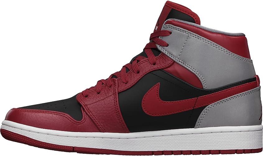 Nike AIR Jordan 1 Mid Age Adulte, Couleur Rouge, Genre Masculin, Taille 45,5