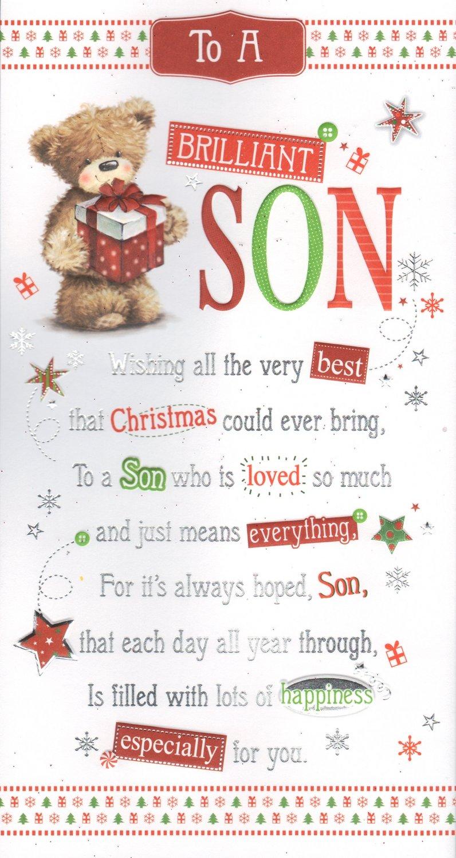 To A Brilliant Son Christmas Card: Amazon.co.uk: Garden & Outdoors