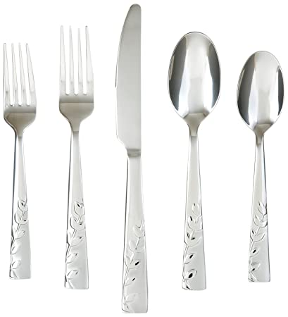 Cambridge Silversmiths Blossom Sand 20-Piece Flatware Set, Service for 4 - Pack of