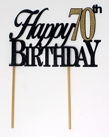 Image Unavailable Not Available For Color All About Details Happy 70th Birthday Cake Topper