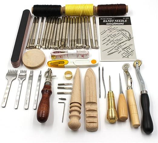 Juego de herramientas profesional para manualidades en cuero, para ...