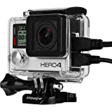 Wealpe Skeleton Housing Open Side Protective Case with LCD Touch Backdoor for GoPro Hero 4, 3+, 3 Cameras