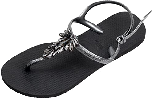 b1449a0736c867 Havaianas Women s Freedom Capri Sandals Swarovski Crystals  Amazon.co.uk   Shoes   Bags