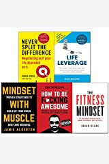 Never split the difference,life leverage,fitness,mindset with muscle,how to be fcking awesome 5 books collection set Paperback