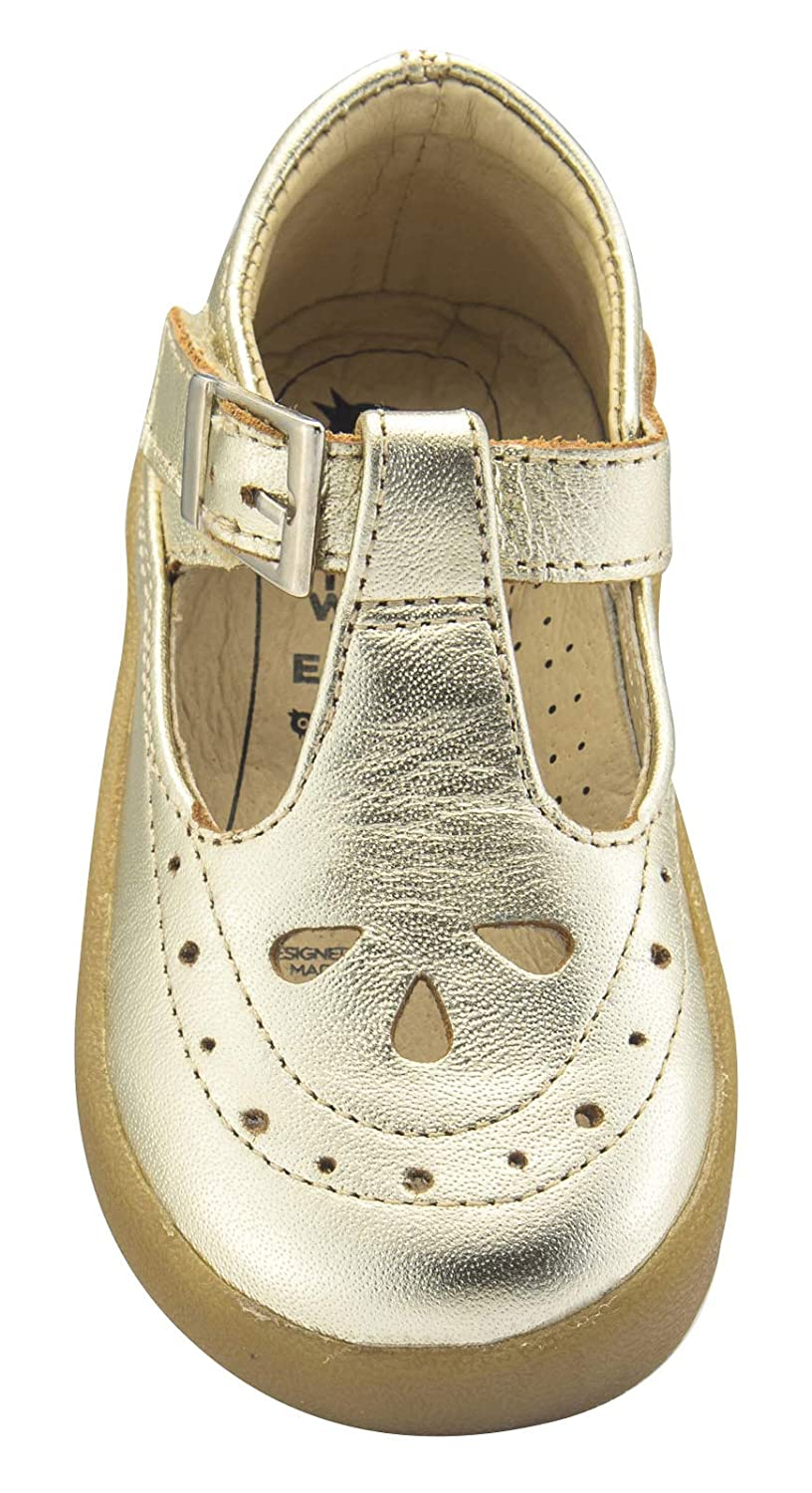 Old Soles Girls Royal Shoe Leather Mary Jane Dress Shoes