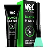 Wel Blackhead Remover Mask - Black Face Mask - Charcoal Face Mask - Peel off Mask - Bamboo Activated Facial Mud Mask…