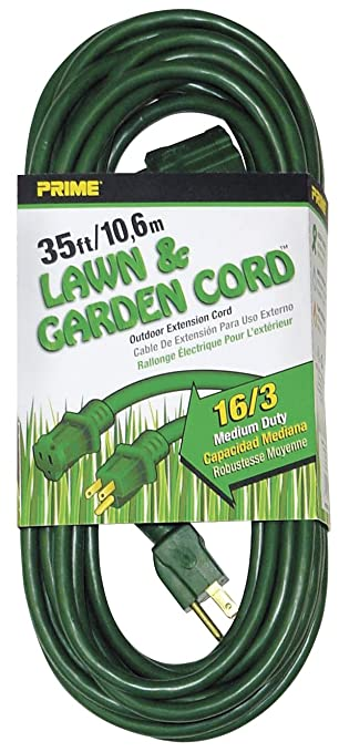 Prime Wire & Cable EC880627 35-Foot 16/3 SJTW Lawn and Garden ...