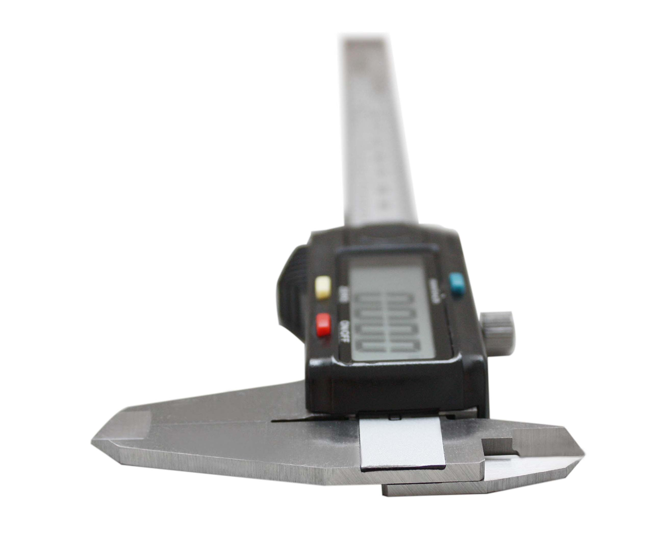 AccusizeTools - 6'' x 0.0005'' Left Hand Electronic Digital Caliper with Extra Large LCD Metric/Inch, #AB11-L106