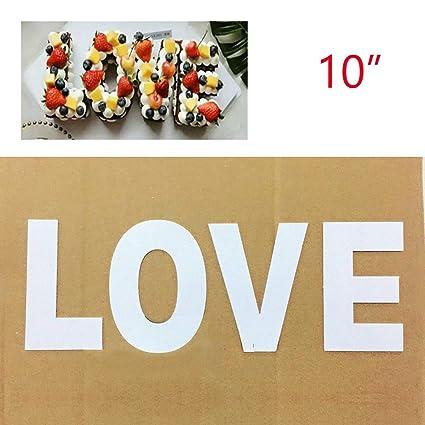 Caaker Juego de bandejas Grandes para Tartas con Texto en inglés Mold Love para cumpleaños,