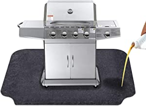 KALASONEER Under Grill Mat,Grilling Gear for Gas and Electric Grill, Absorbent Fabric Material, Washable,Reusable Floor Mat to Protect Decks and Patios from Grease Splatter (Y:36inches x 54inches)