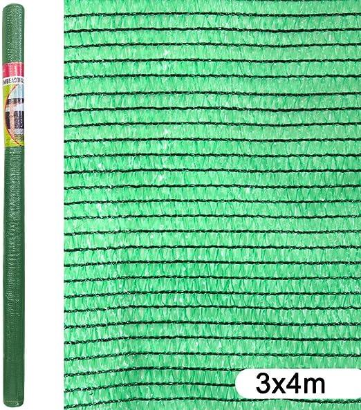 Ldk Garden Mallazo de ocultación para jardín de plástico Verde 4x3 m: Amazon.es: Jardín