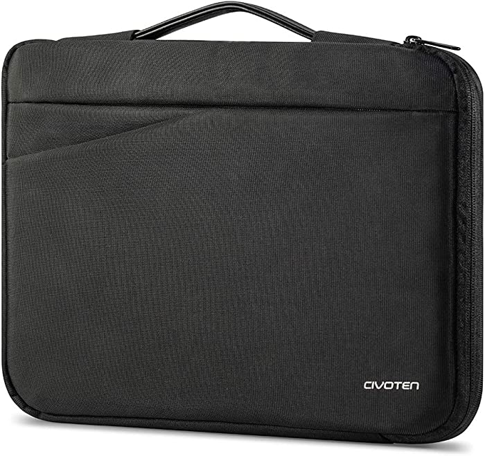 Civoten Laptop Sleeve Case for Most 14 inch Notebook Computer MacBook Surface Book Lenovo Thinkpad X1 Yoga Ideapad HP Stream Dell Latitude Acer ASUS MSI Protective Chromebooks Bag, Black
