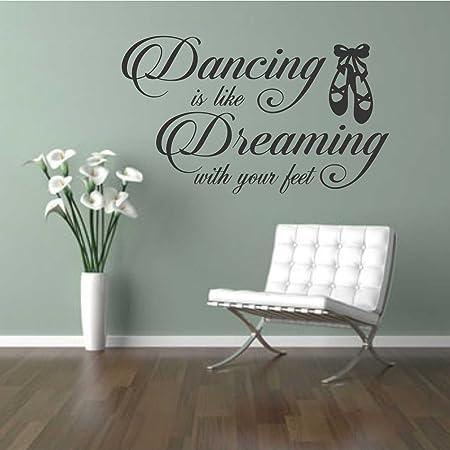 ditooms Dreaming con pies bailar cita vinilo pared letras de ...