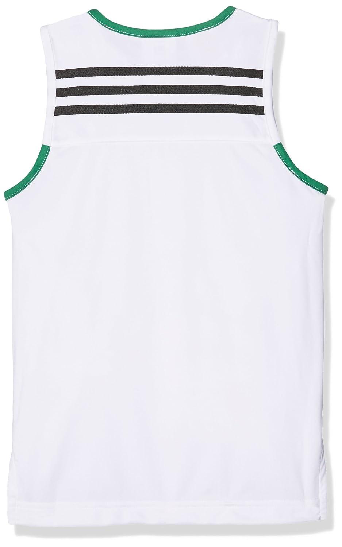 Blanco//Kelsld Ni/ños, adidas Y Commander Jer Camiseta sin Mangas de Baloncesto 140