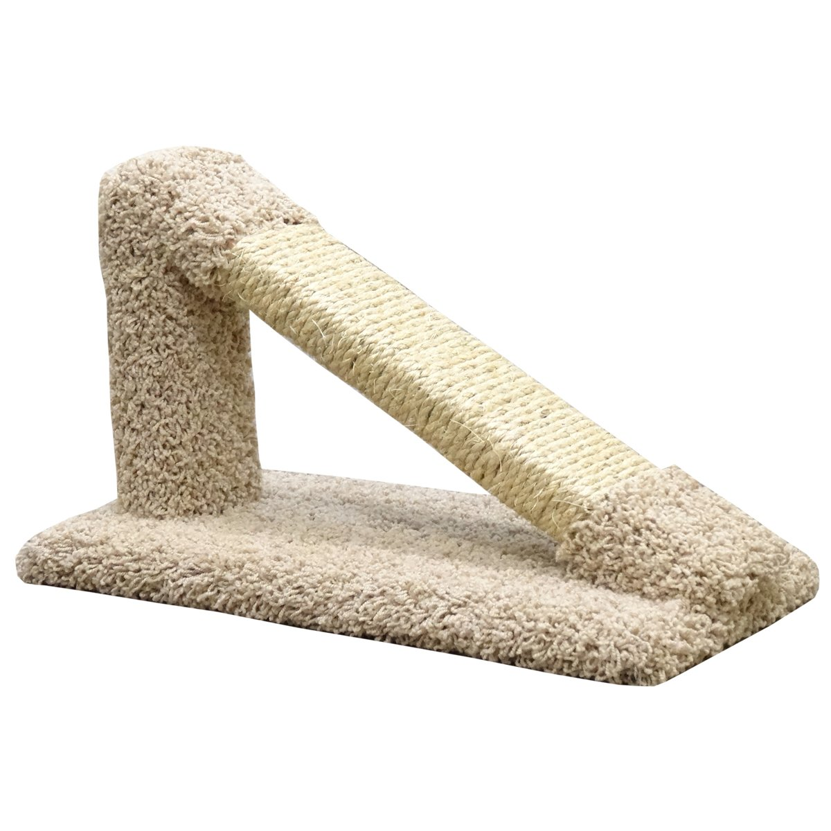 New Cat Condos Premier Tilted Scratching Post, Beige by New Cat Condos