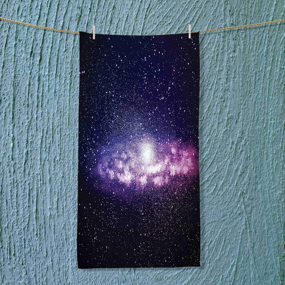 SOCOMIMI Super Absorbent Towel Nebula Cloud in Milky Way Infinity in Interstellar Solar Explosion Design Purple Dark Ideal for Everyday use