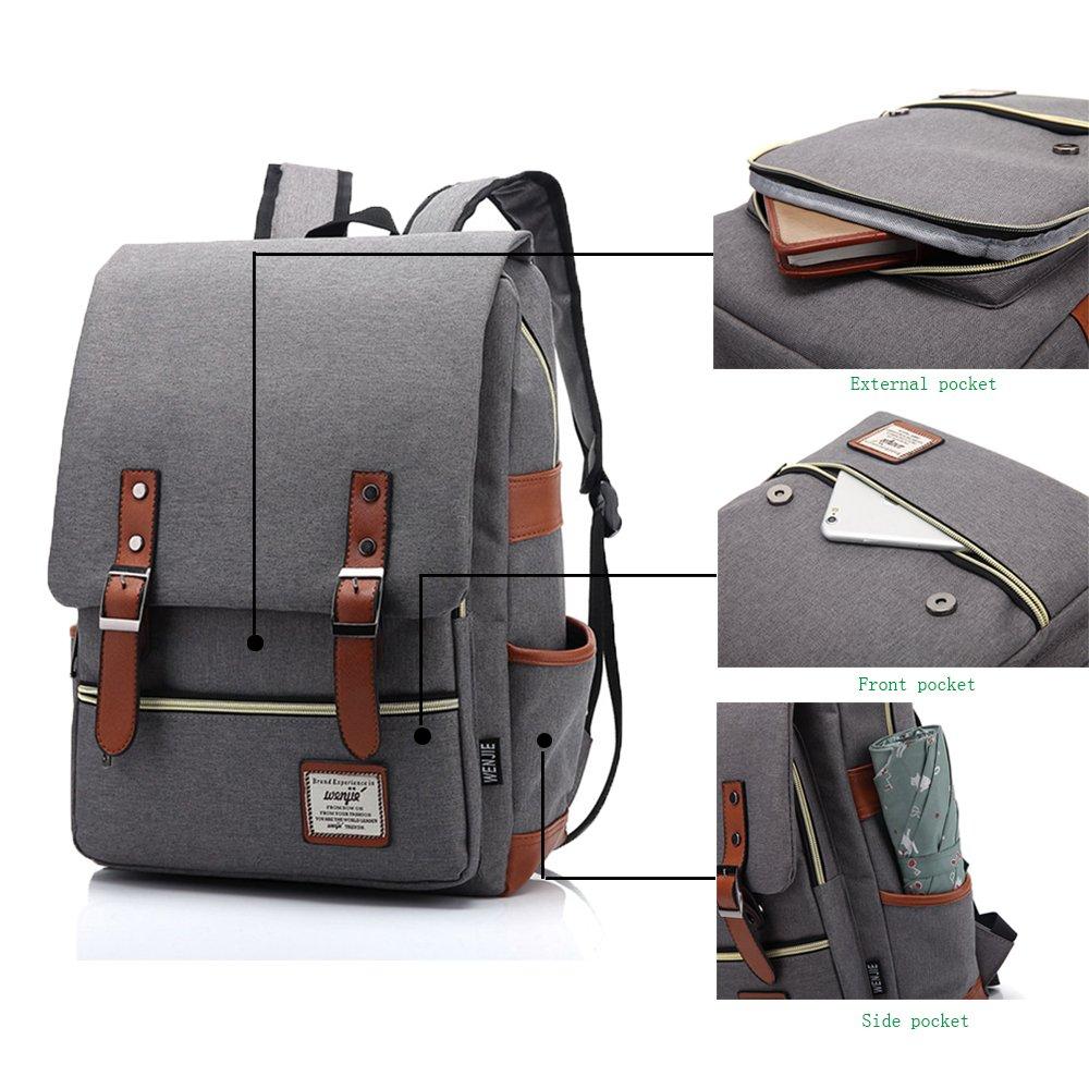 ugrace Slim negocio elegante Casual bolsa de hombro mochila deportes al aire libre mochila escolar para Hombres Mujeres, exclusivo de viaje mochila mochila ...