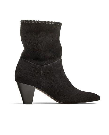 Zara - Botas de Otra Piel Mujer, Negro (negro), 41 EU: Amazon.es: Zapatos y complementos