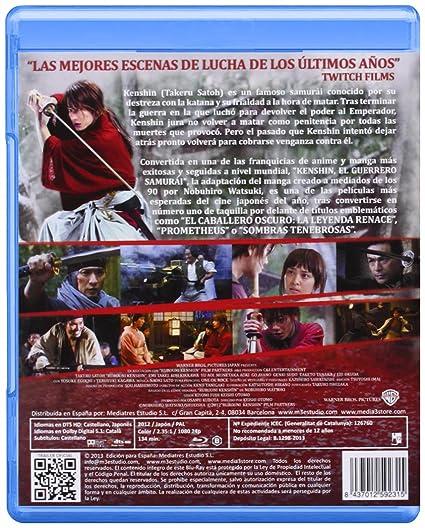 Kenshin, El Guerrero Samurái [Blu-ray]: Amazon.es: Takeru ...