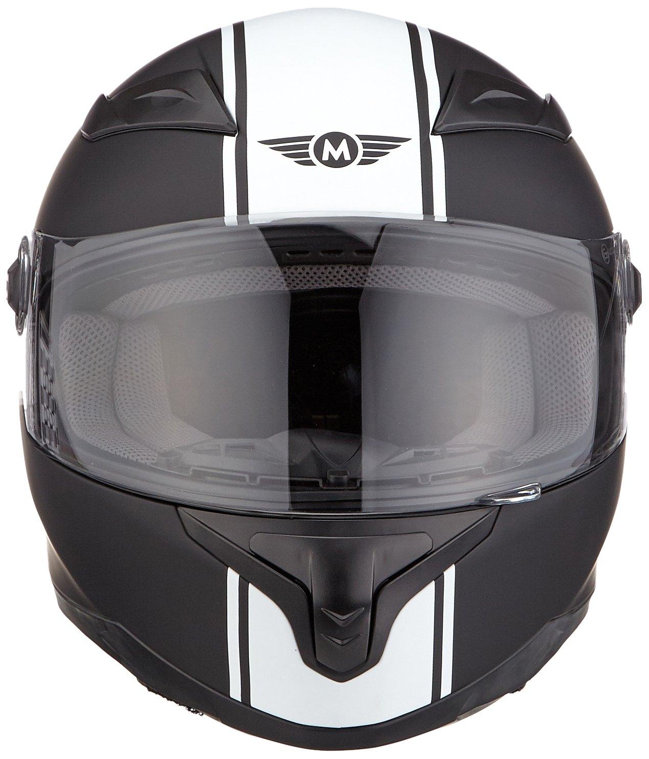 57-58cm MOTO X86 Racing Matt Black /· Fullface-Helmet Urban Urbano Casco Integrale Scooter Moto motocicleta Cruiser Sport /· ECE certificado /· visera incluido /· incluyendo bolsa de casco /· Blanco /· M