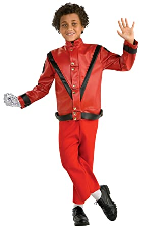 Deluxe Michael Jackson Red Thriller Jacket - Child Red LARGE ...