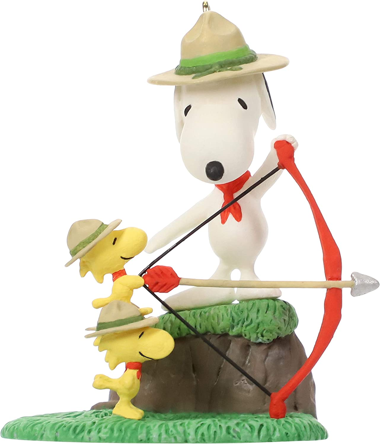Hallmark Keepsake Christmas Ornament 2019 Year Dated Peanuts Beagle Scouts Practice, Snoopy Archery