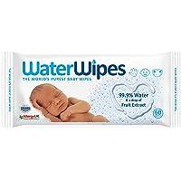 WaterWipes Yenidoğan Ve Hassas Ciltler İçin Kokusuz Bebek Islak Mendilleri Tek Paket, 60 Adet