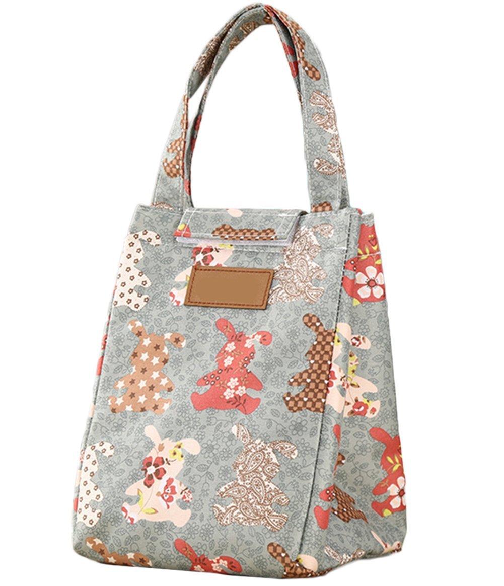 cosanter isolato Borsa termica Picnic Bag Canvas borsa per il pranzo pranzo Shopping Bag Borsa Sacchetto per conservazione alimenti