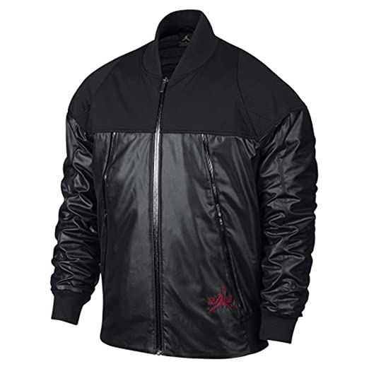 460e4a562b4 Amazon.com: Nike Men's Air Jordan XI Pinnacle Jacket Black 777495 ...