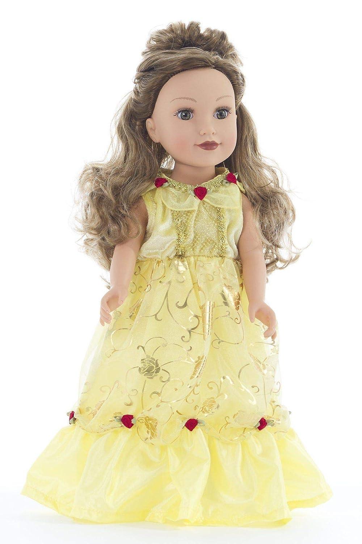 Age 1-3 Little Adventures Yellow Beauty Princess Dress Up Costume /& Matching Doll Dress Small