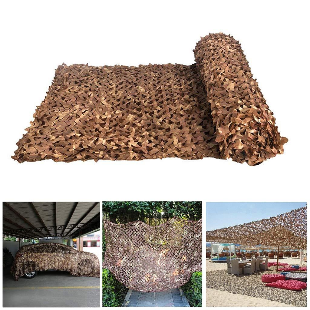 Filet de Prougeection Solaire pour Jardin, Filet de Camouflage Filet D'ombrage Auvents Bcourir Le désert Filet de Camouflage pour la Chasse Tentes Résistantes au Feu Aux Flammes 2x3m 3x5m
