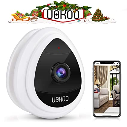UOKOO Mini IP Camera Security Camera, Wi-Fi Wireless Security Smart IP  Camera Surveillance System Remote Monitoring with Motion Alert for Pet Baby