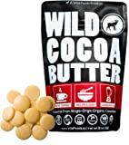 Raw Organic Cocoa Butter Wafers from Peru, Unrefined, Non-Deodorized, Food Grade, Keto, Plant-Based, Paleo, Vegan, For Cooking, Smoothies, Coffee, Skincare and Haircare (8 ounce)