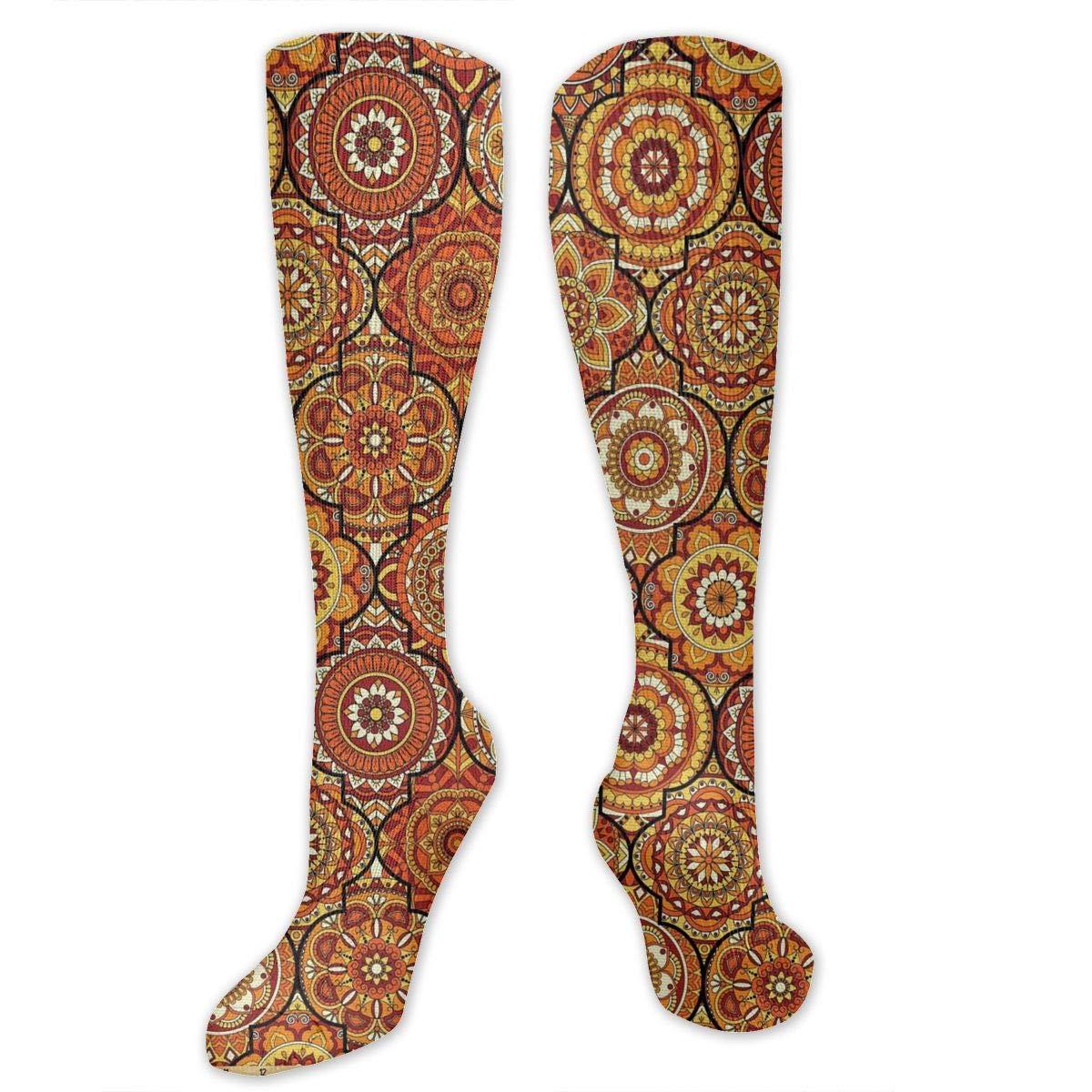 Men Multicolored Pattern Fashionable Fun Crew Cotton Socks Chanwazibibiliu Vintage Hand Drawn Style Mens Colorful Dress Socks Funky