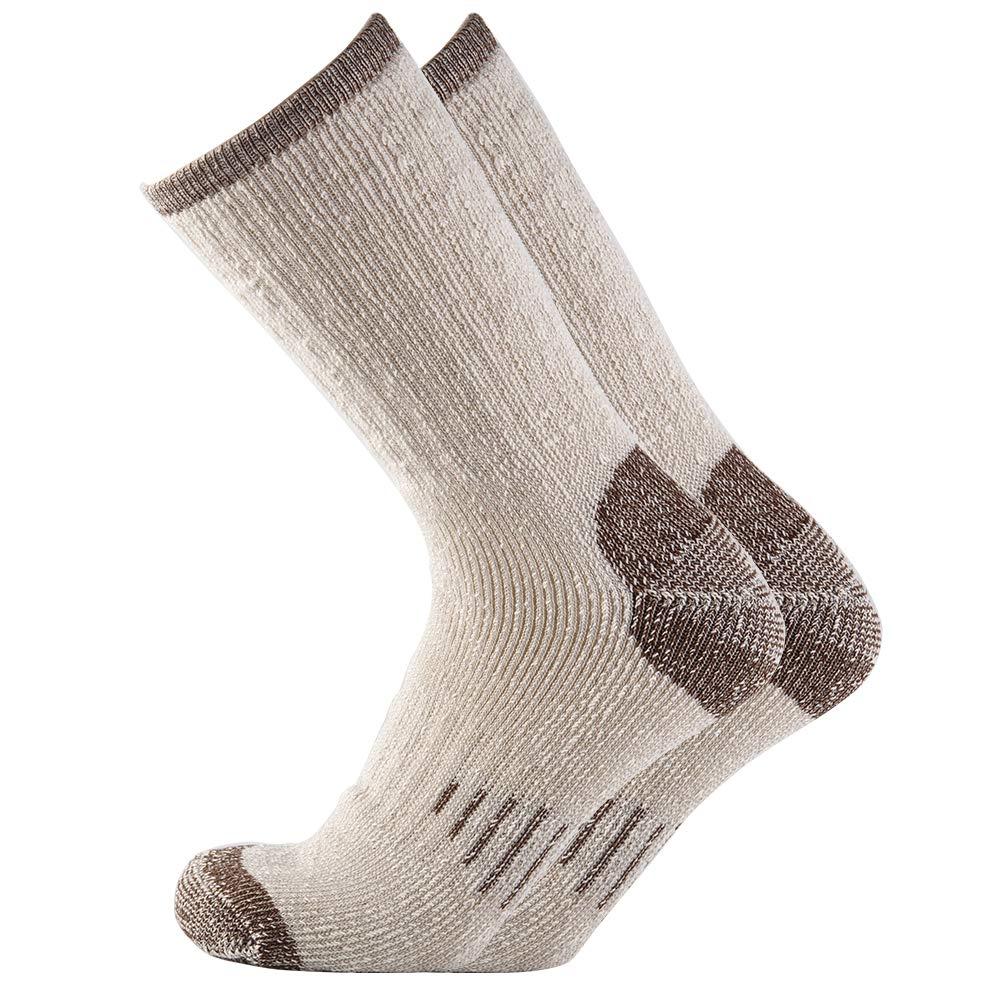 Men 70% Merino wool Crew Socks - NEVSNEV Warm Socks for Men, Athletic Socks for Hiking, Skiing,Trekking,Camping (1 Pair Brown) by NEVSNEV