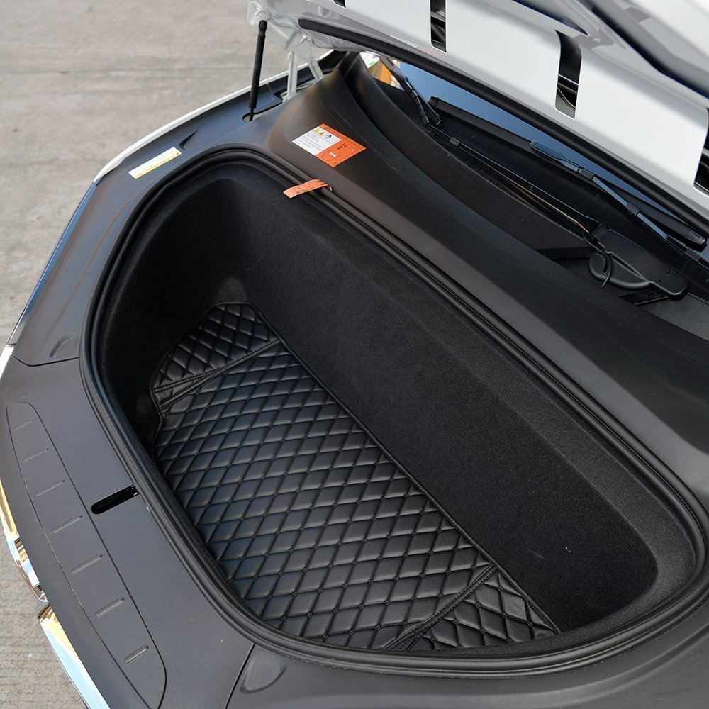Topfit Front and Rear Trunk Mat and 3rd Row Seat Back Protector Mat For Tesla Model X 6 seat and 7 seat by Topfit (Image #3)