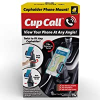Official As Seen On TV Cup Call Cup Holder Phone Mount for Car by BulbHead - Adjustable...