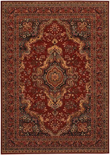 Momeni Rugs Tangier Collection Area Rug, 5 0 x 8 0 , Red