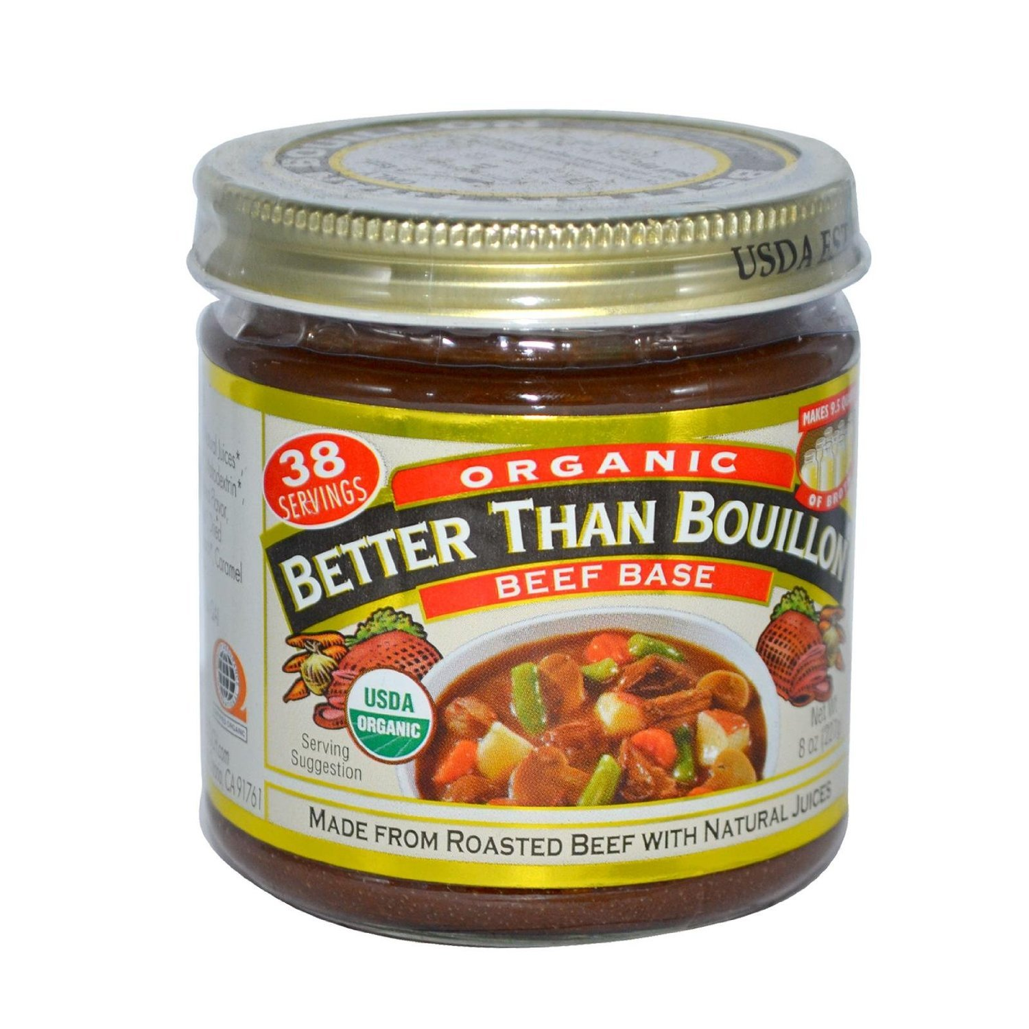 Better Than Bouillon Organic Beef Soup Base, 8 Ounce - 6 per case.