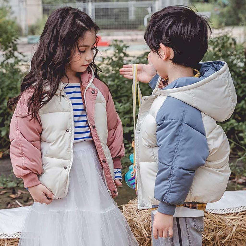 Fashion Toddler Kids Girl Boy Winter Zip Warm Windproof Coat Hooded Warm Outwear Jacket 3-8 Years