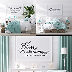 3 Sheet This is Us Crazy Loud Love Bless This Home Every Family Wall Decal Vinyl Love Quote Wall Decal Inspirational Family Quote Sticker Art Lettering Saying Home Decoration for Bedroom Living Room