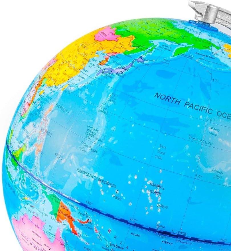 Camking Beleuchtete Weltkugel Mit Detaillierter Weltkarte Fur