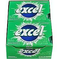Excel Sugar-Free Gum, Spearmint, 12 Count
