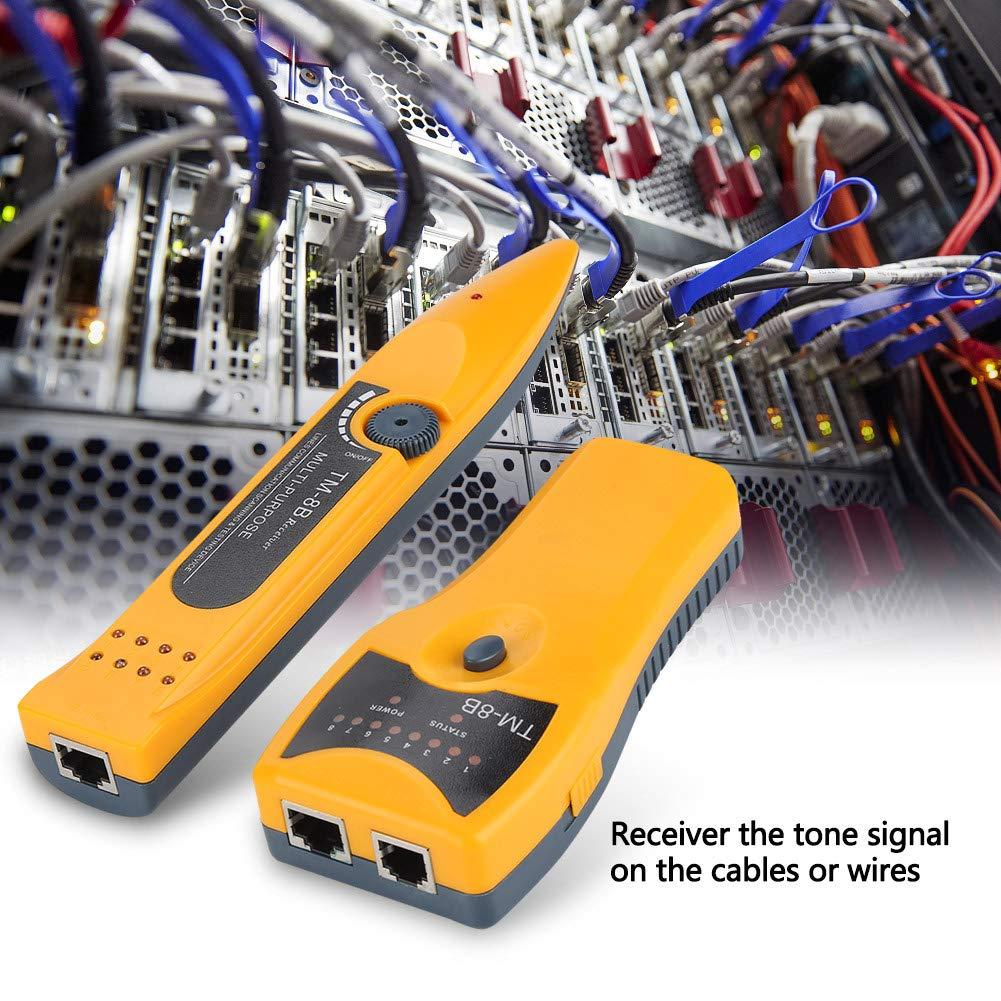 Akozon Comprobador de Cables, buscador RJ45/RJ11 para líneas telefónicas y cables LAN, detector de línea: Amazon.es: Industria, empresas y ciencia