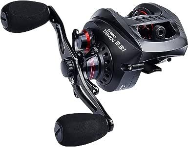 KastKing Speed Demon Baitcasting Fishing Reel – World's Fastest Baitcaster - 9.3:1 Gear Ratio – 12+1 Shielded Ball Bearings – Carbon Fiber Drag – Affordable - New for 2017! (Right Handed)